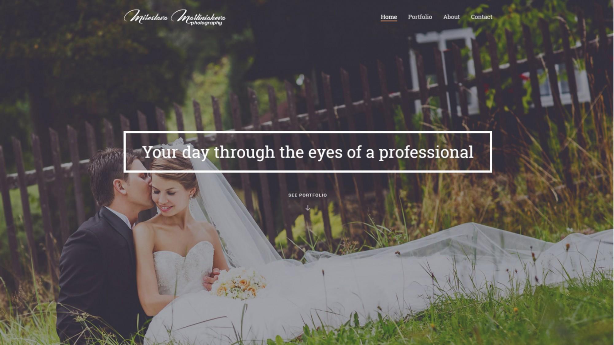 Svadobná prezentácia na novom webovom priestore